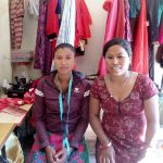 one of the recipient of skill development training in her shop